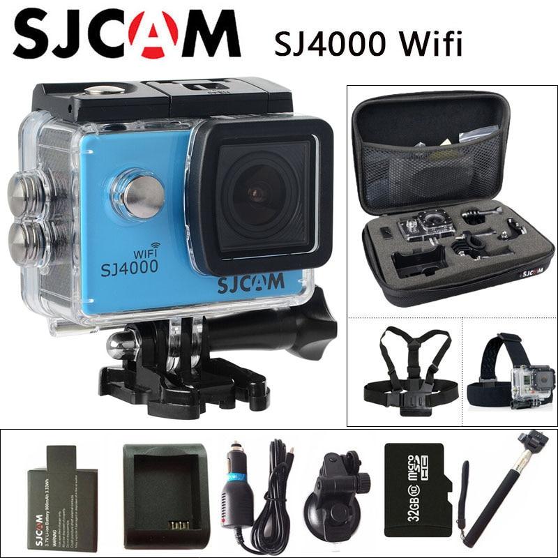 Originale SJCAM SJ4000 WiFi Macchina Fotografica di Azione 2.0 pollice Schermo LCD 1080 P HD Diving 30 M Impermeabile mini Videocamera SJ 4000 Cam DV Sport