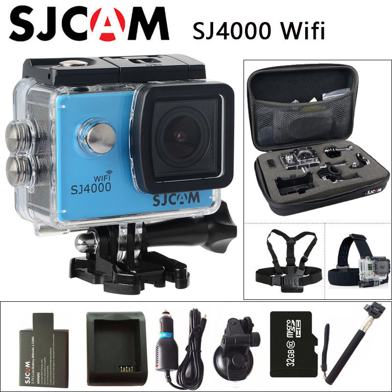 Ursprüngliche SJCAM SJ4000 WiFi Action Kamera 2,0 zoll Lcd-bildschirm 1080 P HD Tauchen 30 Mt Wasserdichte mini Camcorder SJ 4000 Cam Sport DV