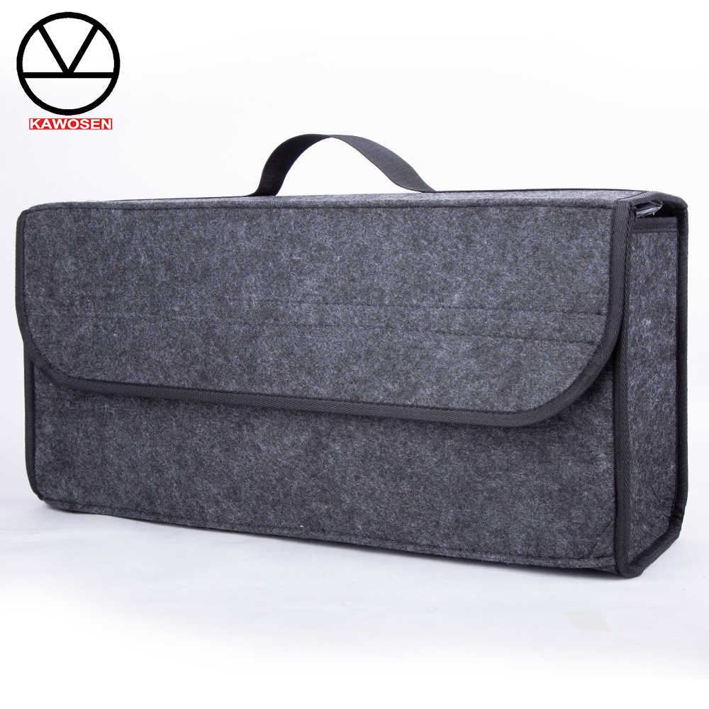 KAWOSEN Portable Foldable Car Trunk Organizer Felt Cloth Storage Box Case Auto Interior Stowing Tidying Container Bags CTOB04