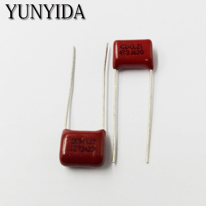 Free Shipping 10pcs, CBB 473J  630V  47NF  P10mm  Metallized Film Capacitor