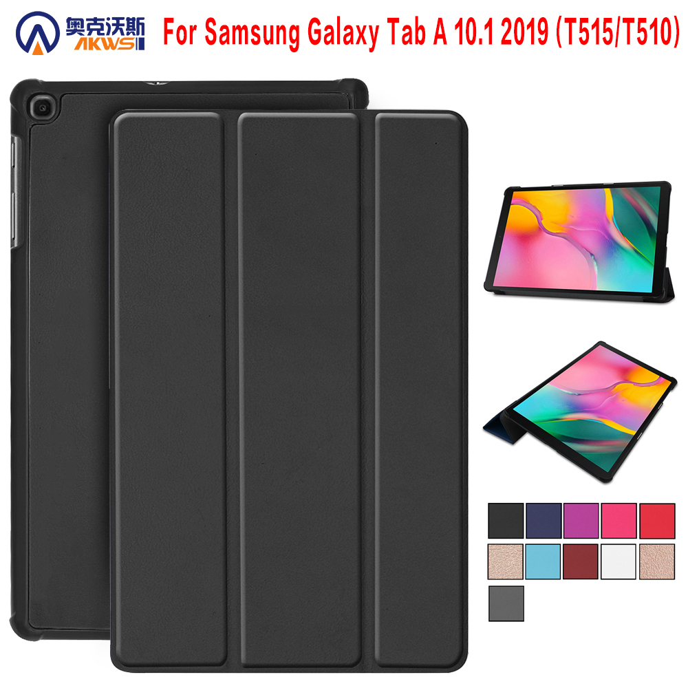 Caso para Samsung Galaxy Tab 2019 SM-T510 SM-T515 T510 T515 capa Tablet Stand Case para Tab 10.1'' 2019 tablet case + presente