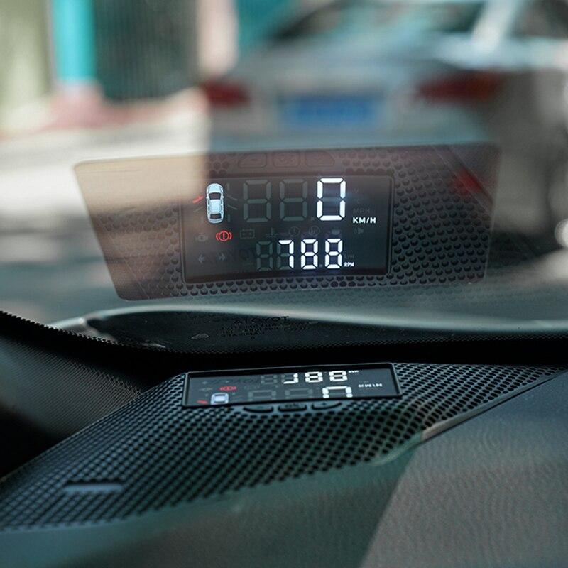 Pneumatico di Acqua Temperatura HUD Head Up Display Per Toyota C-HR 2017 2018 Motore di Velocità di Guida REV Mph Gear Stato HUD per CHR 2019