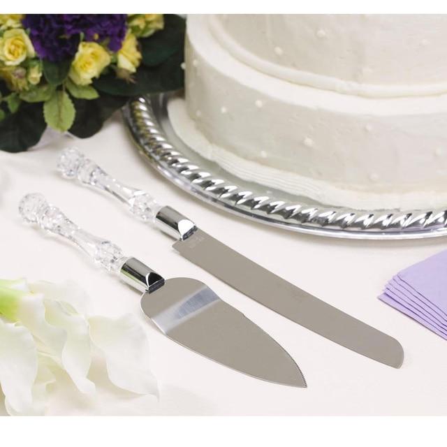 Behokic Behokic 2PCS Wedding Resin Cake Knife Blade Server Serving