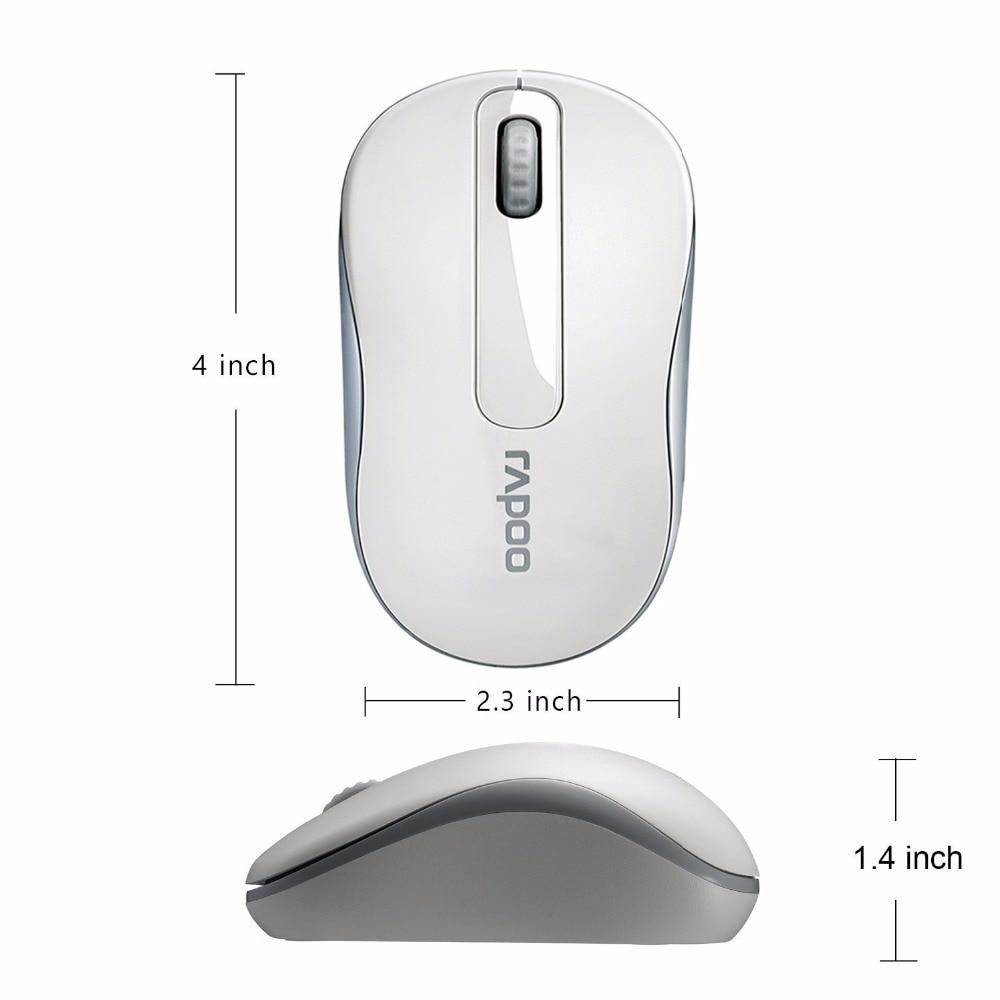 Original Rapoo 2.4G Mini Optical Wireless Mouse- ի հուսալի - Համակարգչային արտաքին սարքեր - Լուսանկար 4