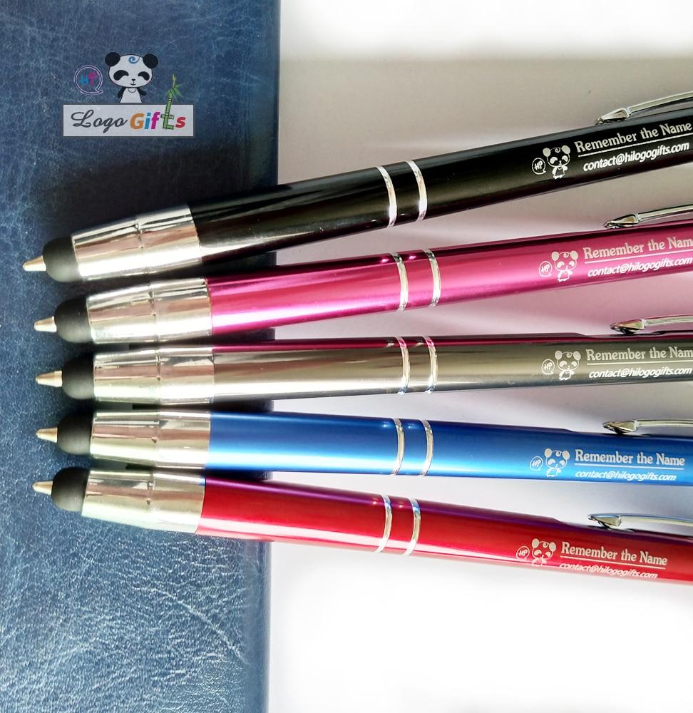 Gros stylet crayons top stylet écran tactile stylo à bille personnalisé gratuit avec votre nom/logo/email/téléphone-in Stylos à bannière déroulante from Fournitures scolaires et de bureau on AliExpress - 11.11_Double 11_Singles' Day 1