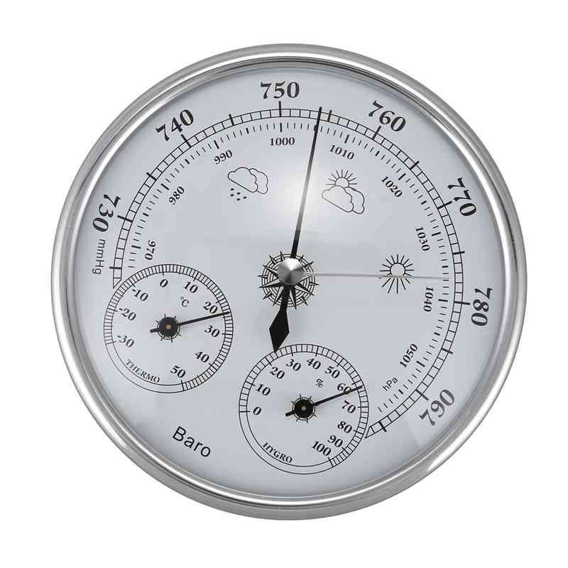 Aletler'ten Basınç Göstergeleri'de Duvara Monte Ev Termometre Higrometre Yüksek Doğruluk Basınç Göstergesi Hava Hava Enstrüman Barometre title=