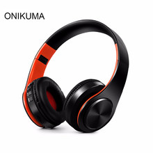 ONIKUMA Portable Wireless Headphones Foldable Bluetooth Headset Earphone Headphone Earbuds Earphones With Mic Support SD FM(China)