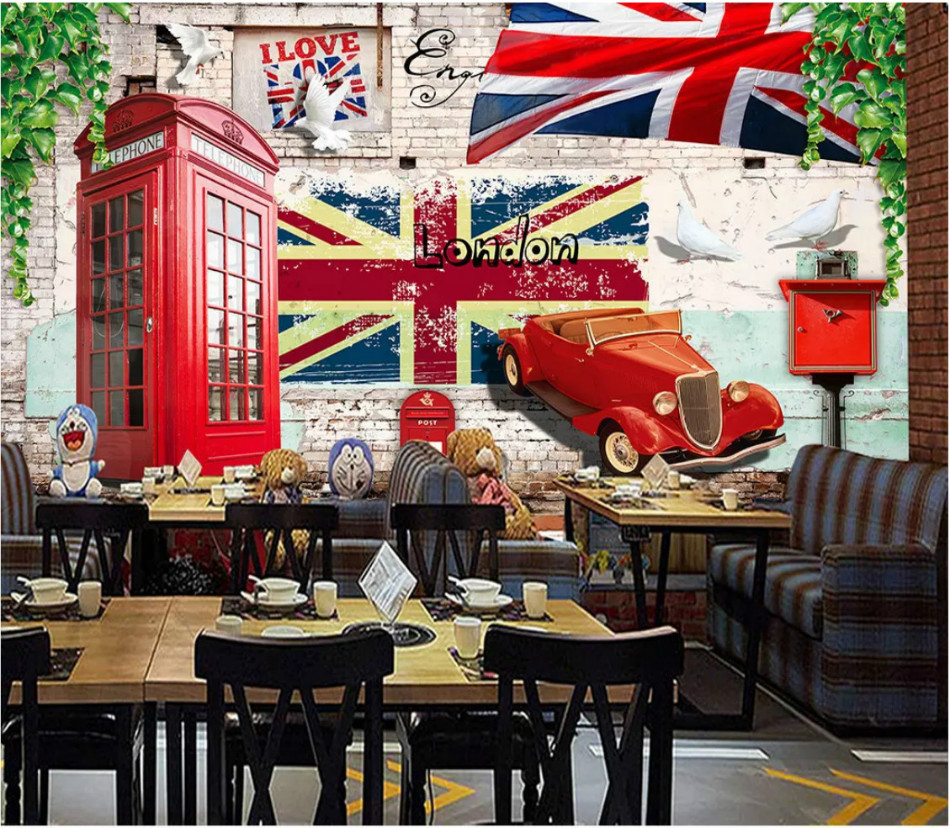 Au $42.99 + au $15.99 shipping + au $15.99 shipping + au $15.99 shipping. British Style Red Telephone Booth Vintage Car Bar Wallpaper For Coffee Shop Background Wall Wallpaper Mural For Wall Wallpapers Aliexpress