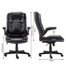 IntimaTe WM Heart Leather Office Executive Chair with Foldable Arms Ergonomic Swivel Computer Desk Chair A35 giantex ergonomic pu leather mid back swivel gaming chair modern executive computer desk task office chair hw51446