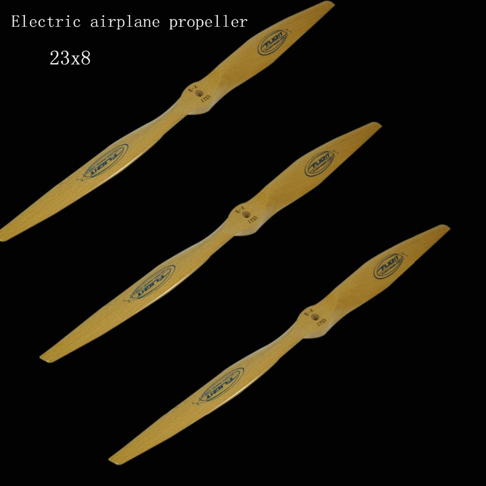цены 1pcs Flight model CW CCW Wood Wooden Beechwood Propeller Prop For Electric RC Airplane 23x8