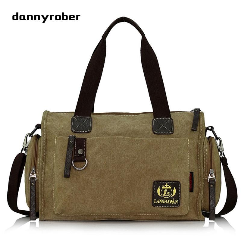 Winter Vintage Durable Canvas Bag Large Washed Bucket Travel Bags Crossbody Shoulder Messenger Bags 2018