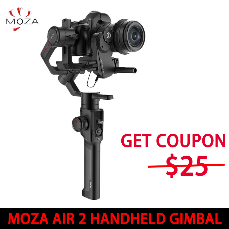 EN STOCK! Stabilisateur de caméra 3 axes Moza Air 2 pour appareil photo sans miroir DSLR Canon 5D2/3/4 AIR2 vs Feiyu AK4000 DJI Ronin S