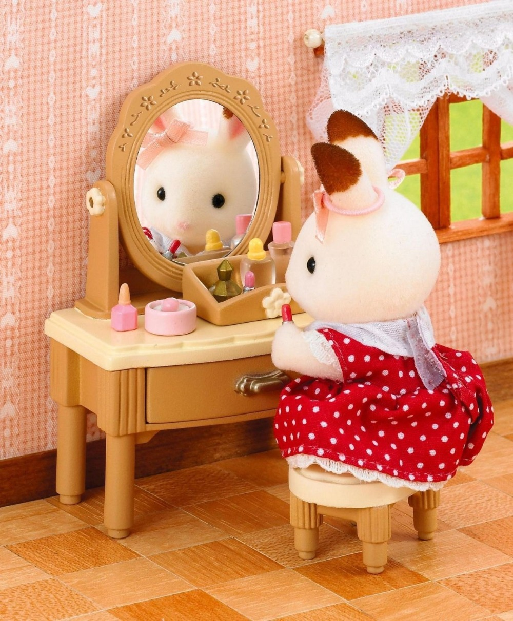 New japanese version sylvanian families dressing table for Sylvanian families beauty salon dressing table