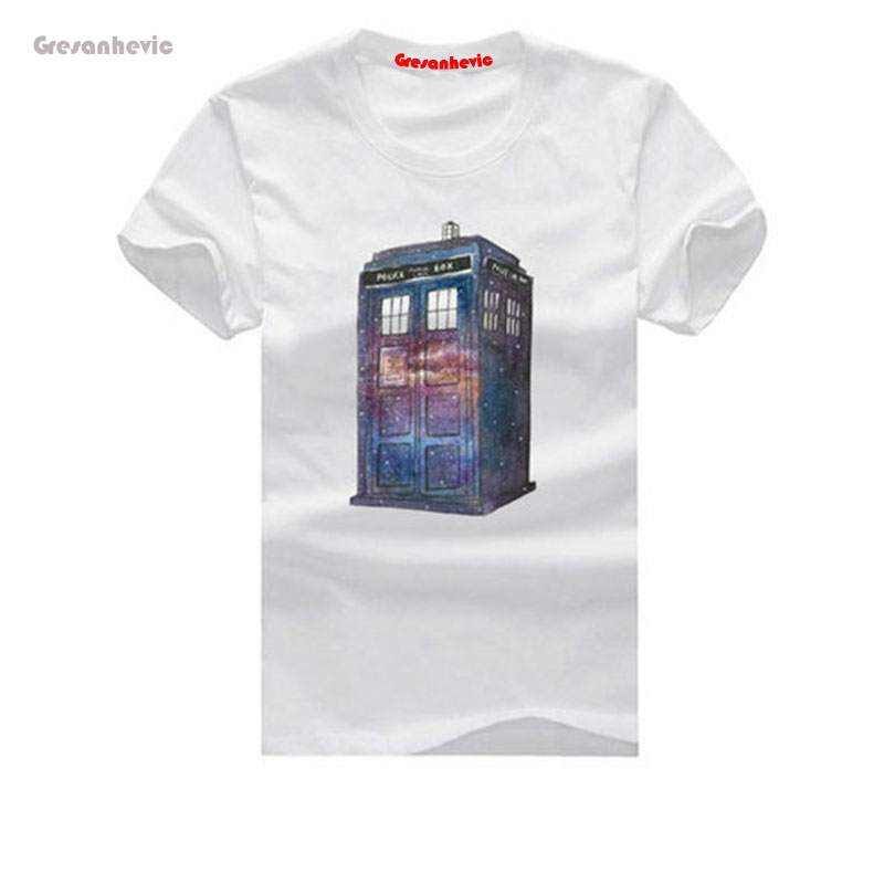 popular doctor who New Fashion Man T-Shirt Cotton O Neck Mens Short Sleeve Mens tshirt Male Tops Tees Wholesale