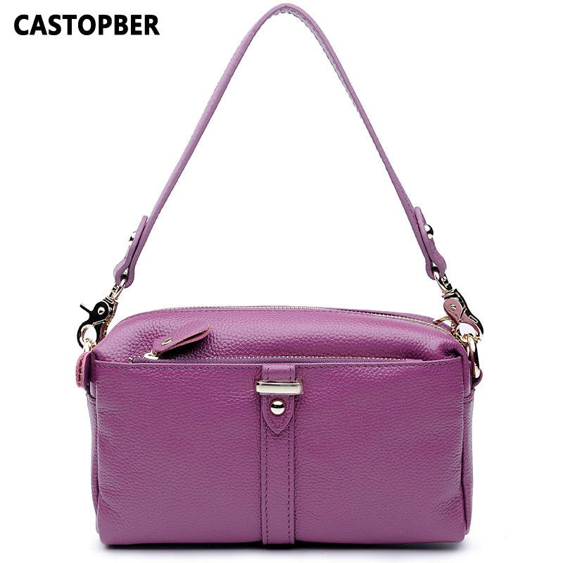 Fashion First Layer Cowhide Genuine Leather Women Bag Crossbody Shoulder Bags Handbag Ladies High Quality Famous Brand Female female handbag bag fashion women genuine leather cowhide large shoulder bag crossbody ladies famous brand big bags high quality