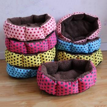 Cute Dogs Beds Leopard Colorful Print Pet Cats Warm Nest Winter Super Soft Octagonal Nest Beds