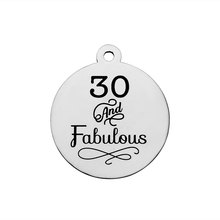 e653e5f3b BULK 30pcs Stainless Steel 30 And Fabulous Charms 30th Happy Birthday  Pendant 20mm(China)