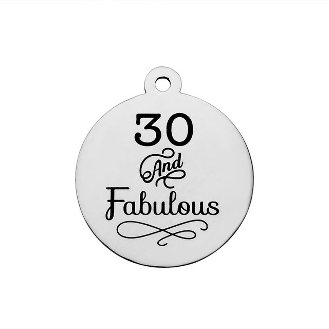 BULK 30pcs Stainless Steel 30 And Fabulous Charms 30th Happy