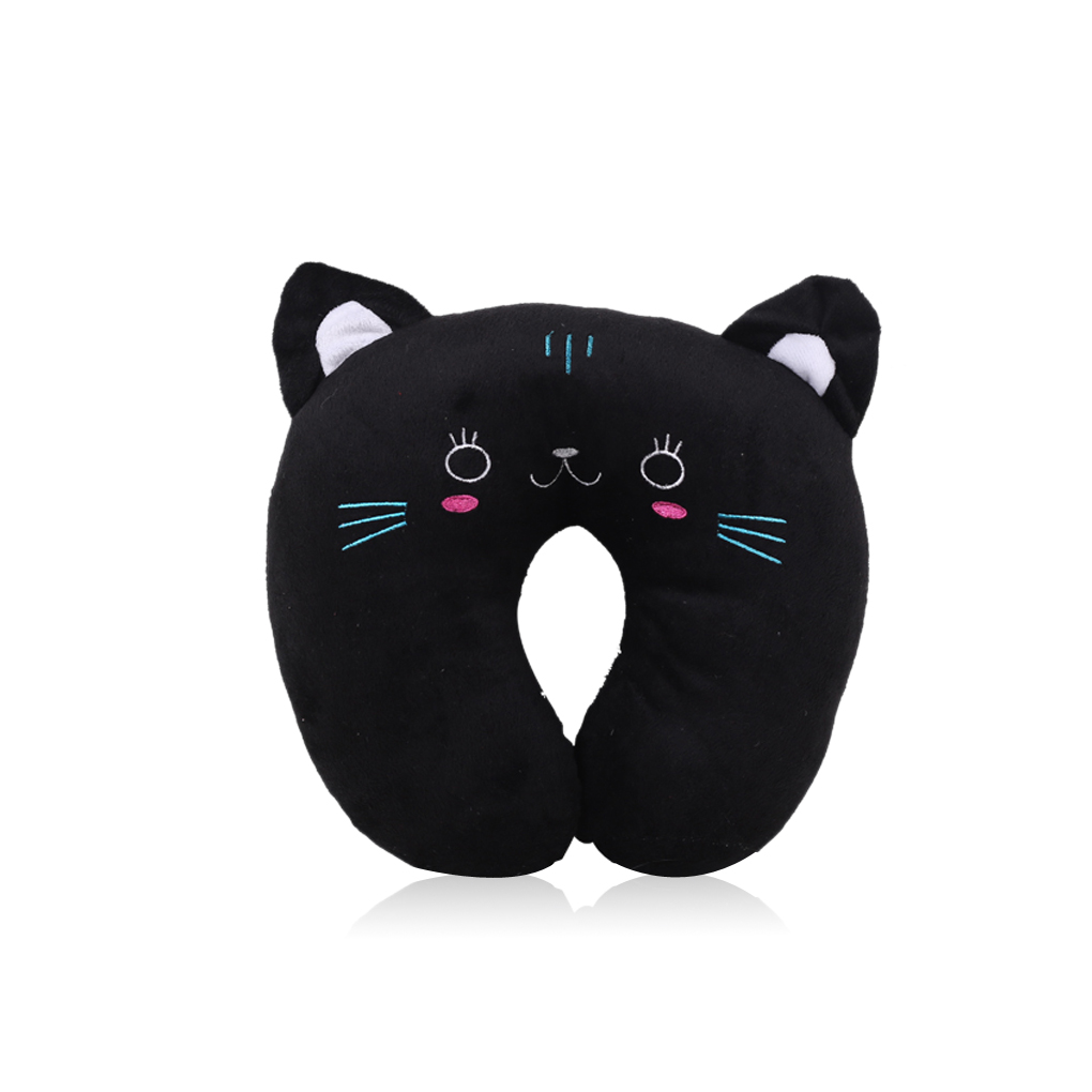 Hot Sale 1PC Soft U-Shaped Plush Sleep Neck Protection Pillow Office Cushion Cute Lovely Travel Pillows For Children/Adults