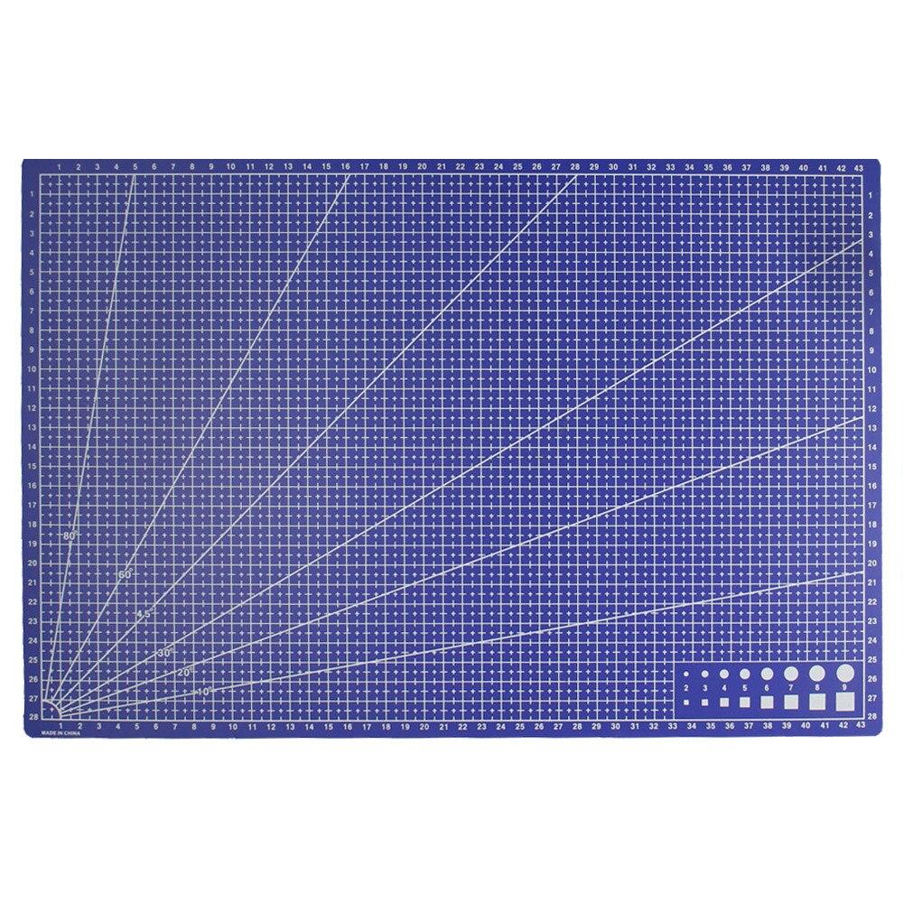 A3 PVC rectángulo las líneas de cuadrícula de corte de plástico herramienta de bricolaje herramientas 45 cm * 30 cm