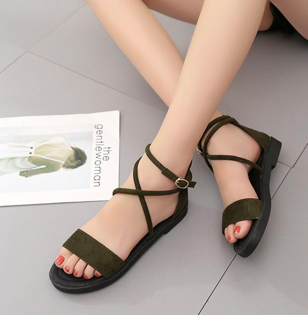 2018 Gladiator Sandals Women Summer Shoes Platform Fashion Women Sandals Casual Occasions Comfortable Female Flats Sandals women sandals 2017 summer shoes woman wedges fashion gladiator platform female slides ladies casual shoes flat comfortable
