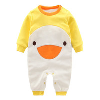 2017 Spring Summer Cute Animal Style Baby Clothing Long Sleeve Baby Rompers Infant Toddler Outfit Big Sale