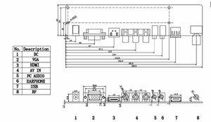 "Image 5 - TV + HDMI + VGA + AV + USB + 오디오 TV LCD 드라이버 보드 19.5 ""M195FGE L20 LM195WD1 TLC1 M195RTN01 1600*900 LCD 컨트롤러 보드 DIY 키트"