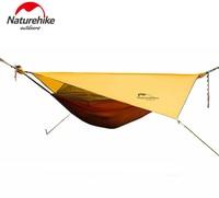 Naturehike Hammock Portable Camping Hammock With Mosquito Nets Single Person Hammock Swing Grey Orange