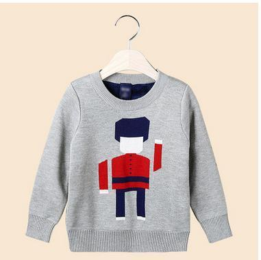 Korean version of the cartoon head plus velvet children sweater casual children 's wear