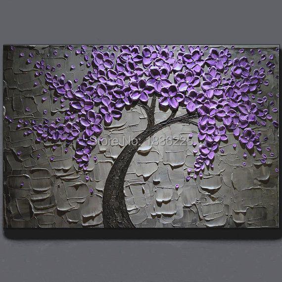 lila blume bilder-kaufen billiglila blume bilder partien aus china ... - Moderne Kunst Wohnzimmer