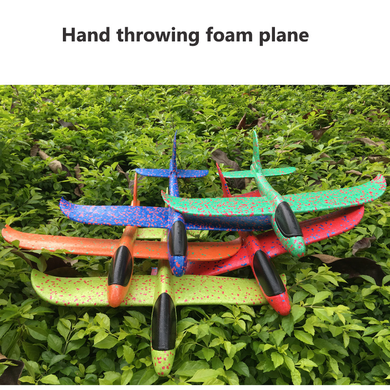 48cm Big Hand Launch Throw Foam Palne EPP Airplane Model Plane Glider Aircraft Model Outdoor DIY Educational Toys For Children image