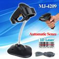 Free shipping!MJ-4209 Automatic USB Laser Scan Barcode Scanner Bar Code Reader Handheld /Stand