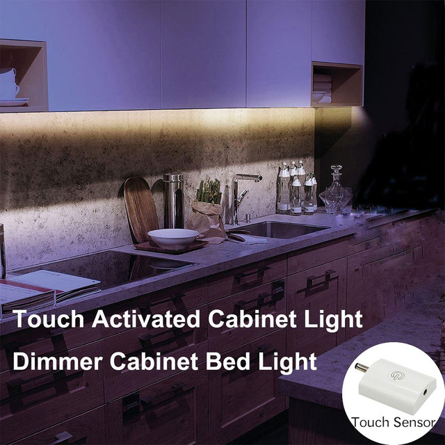 Dbf Touch Activated Cabinet Light Flexible Led Strip Night Bedside Lamp Illumination