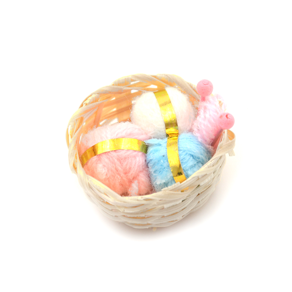1//12 Mini Miniature Wool Doll Knitting Kit Kids Pretend Toy For Doll house