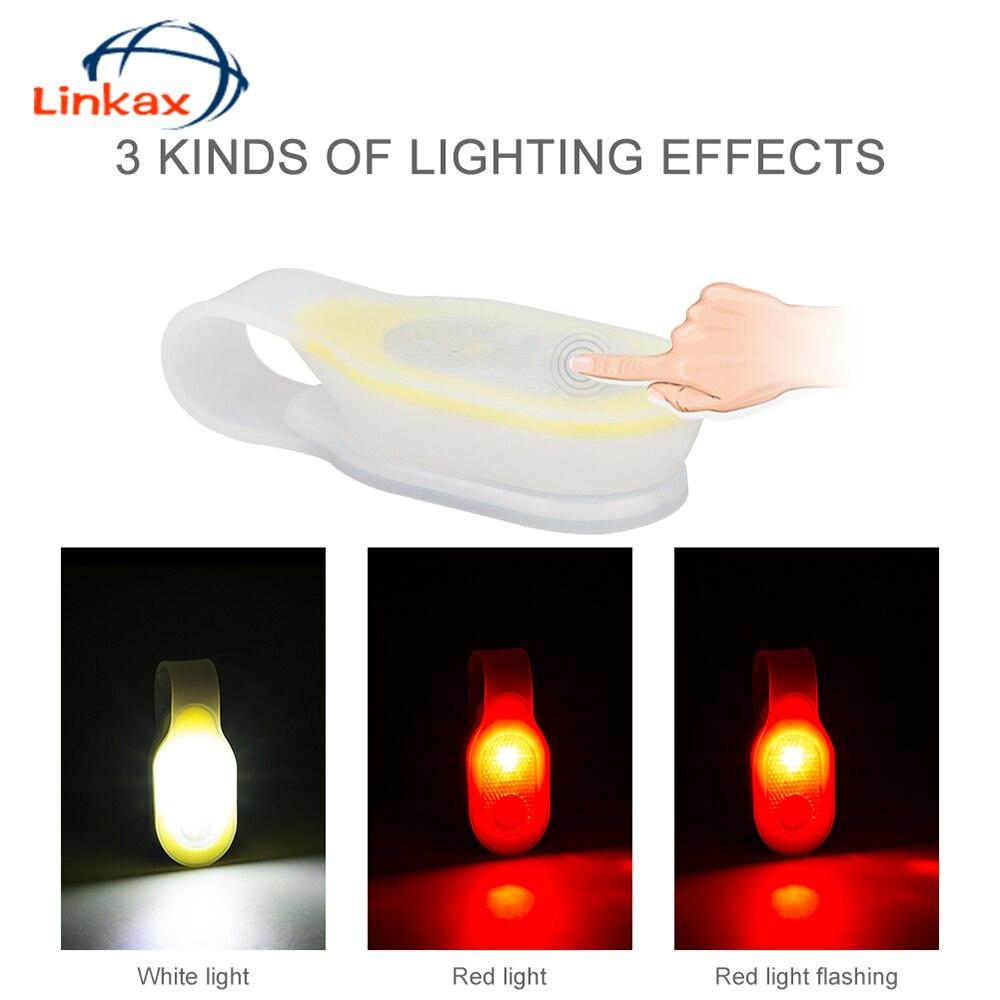 3 režīmi Mini LED silikona klipša lampas nakts riteņbraukšanas braukšanas gaisma Velosipēdu kempinga spuldze ar spēcīgu magnētisko slēgšanu