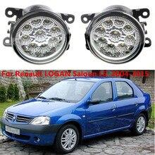 For Renault LOGAN Laguna Saloon LS  2004-2015 Car styling CCC E2 3000-1WK LED Fog Lamps DRL Lights 1set