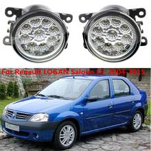 For Renault LOGAN Saloon LS  2004-2015 Car styling CCC E2 3000-1WK LED Fog Lamps DRL Lights 1set