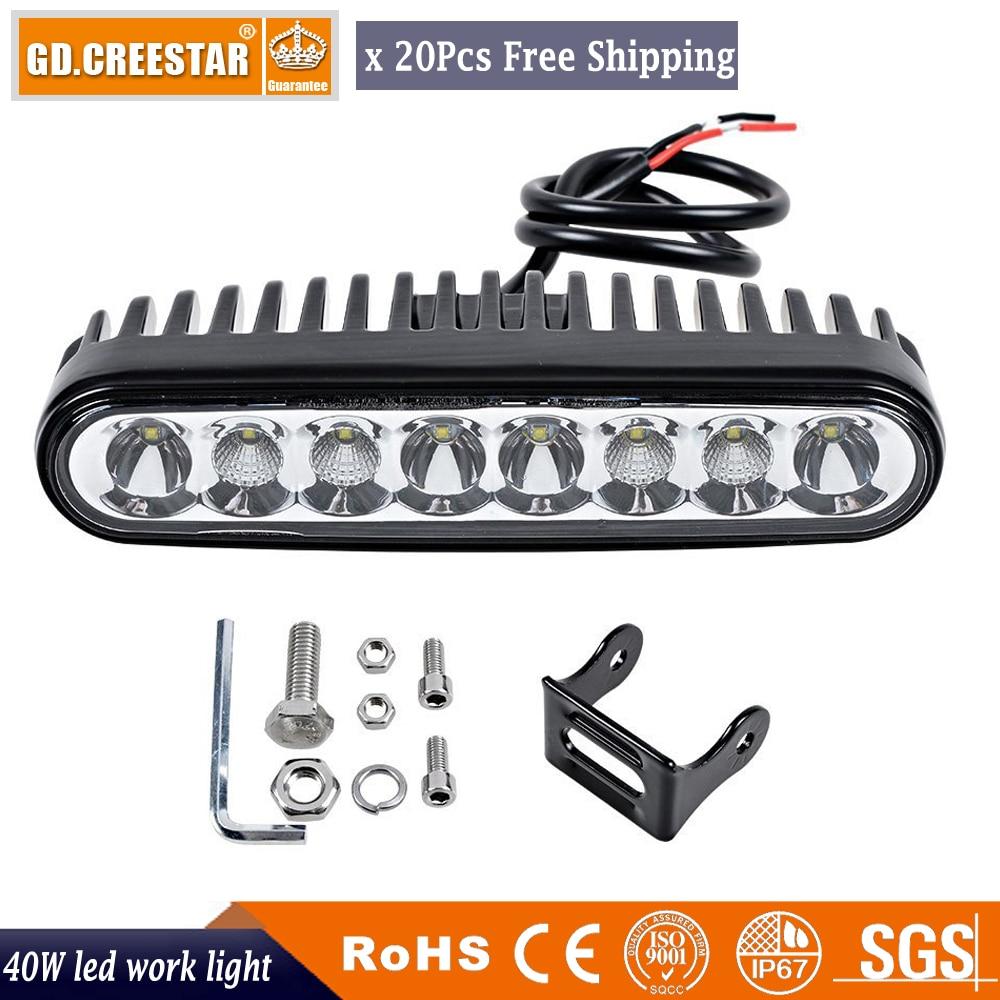 40 W LED LAMPE de Travail Bar Combo 7 ''DRL Voiture ATV 4WD Wagon Ramassage Bus 4X4 Moto Bateau Camper AWD De Conduite De Camion Phare x20pcs
