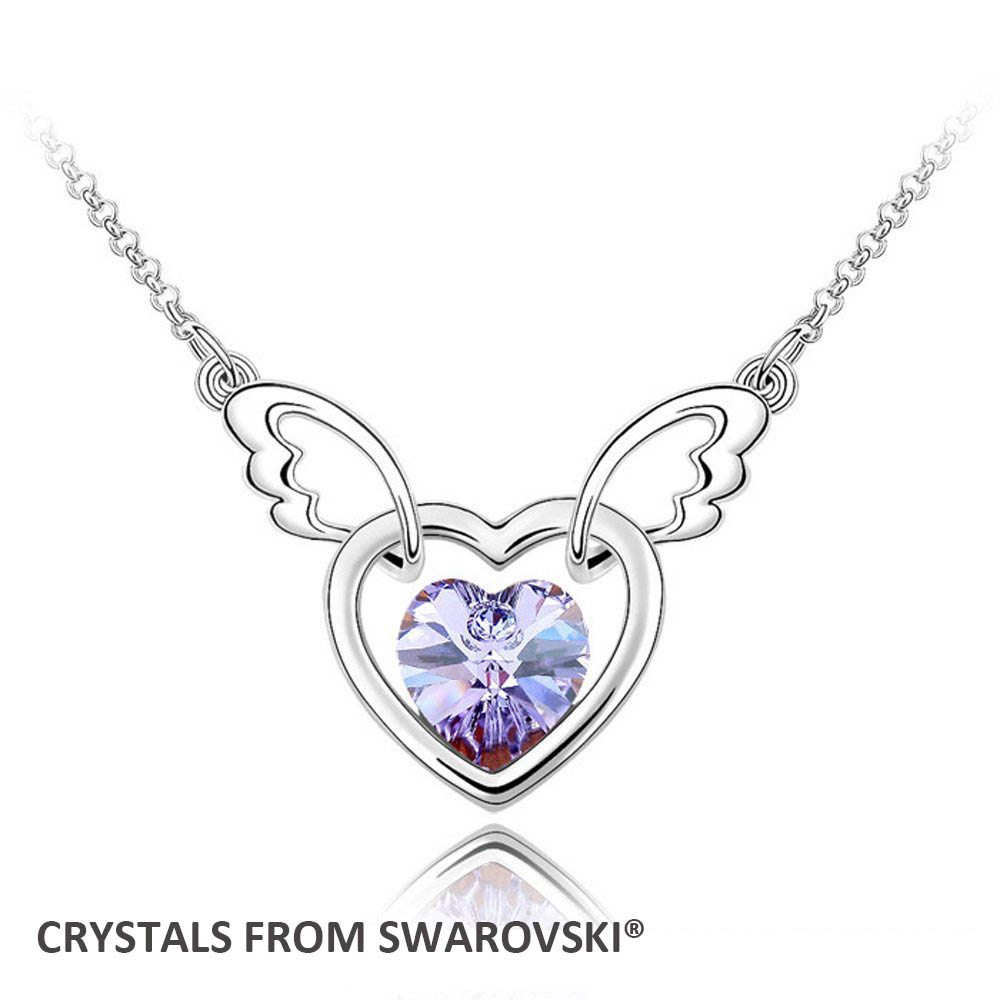 2015 Mothers Day gift! crystal heart pendant necklace With Crystals from SWAROVSKI, matc ...