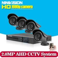 HD 2MP Video Surveillance CCTV System 8CH HD 1080P HD AHD DVR Kit 4 1080P Outdoor