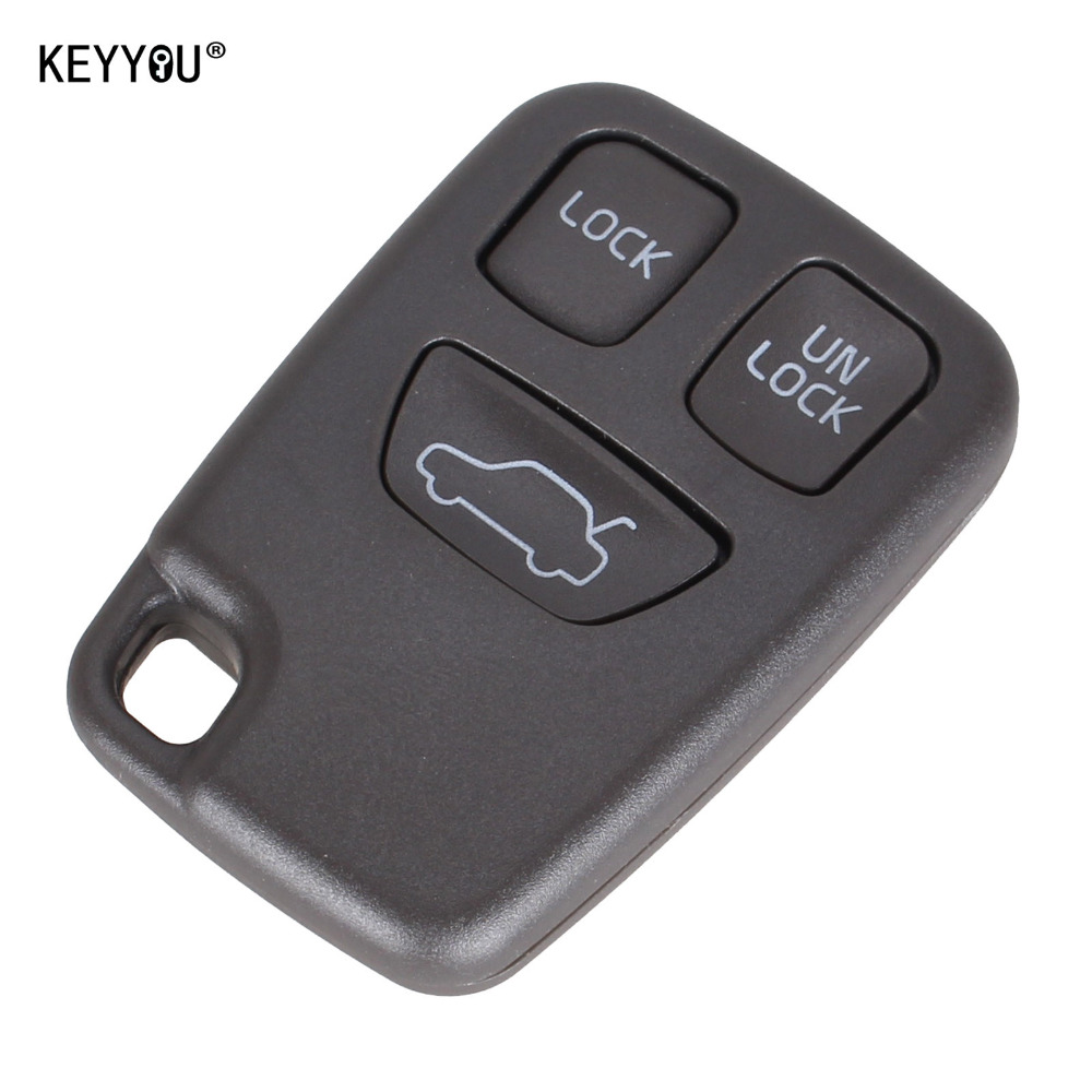 Keyyou 3 Buttons Remote Fob Car Key Shell Uncut Blade Key