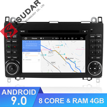 Isudar Auto Multimedia Player 2 din Android 9 Sistema Stereo Per Mercedes/Benz/Sprinter/W169/B200 /B-class Car DVD Radio GPS DSP FM