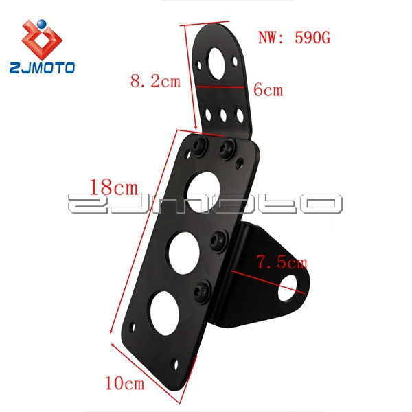 zjimoto dyna softail chopper custom motorcycle license plate holder cafe racer billet side mount taillight bracket