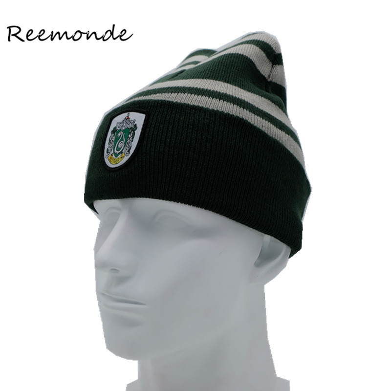 Gryffindor Cap Winter Hat Fashion Keep Warm Hats Stripe Letter Embroidery Knitted Beanies Cap For Women Men Casual Ski Caps