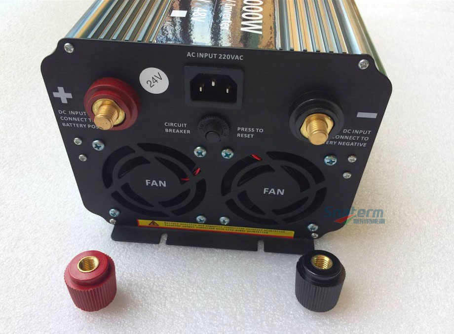 Inversor de onda sinusoidal pura de 2000 W con pantalla LCD del cargador 12/24/48VDC a AC220/230/ 240 V 50Hz/60Hz fuera de la red inversor de energía 2KW