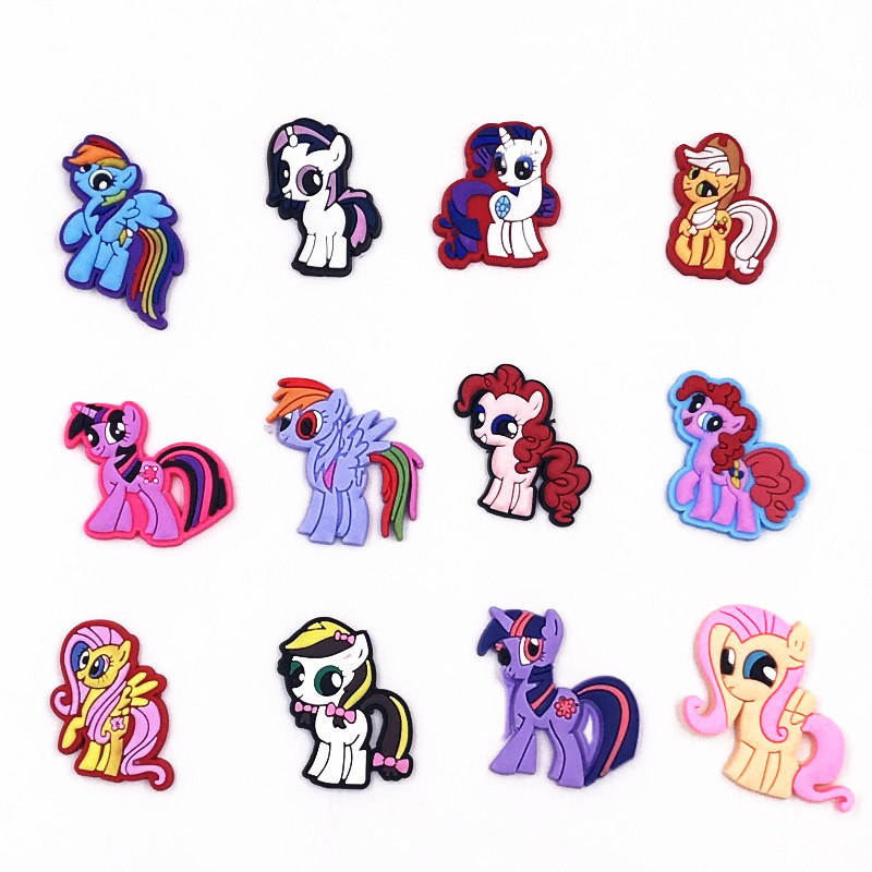 My Little Pony Characters Round Crystal Floating Charms Locket Necklace