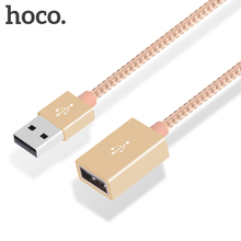 HOCO UA2 Micro USB 2.0 Extendable cables 1m Male to Female Extension Data Transfer cable Cord for desktop computers PC phones(China (Mainland))