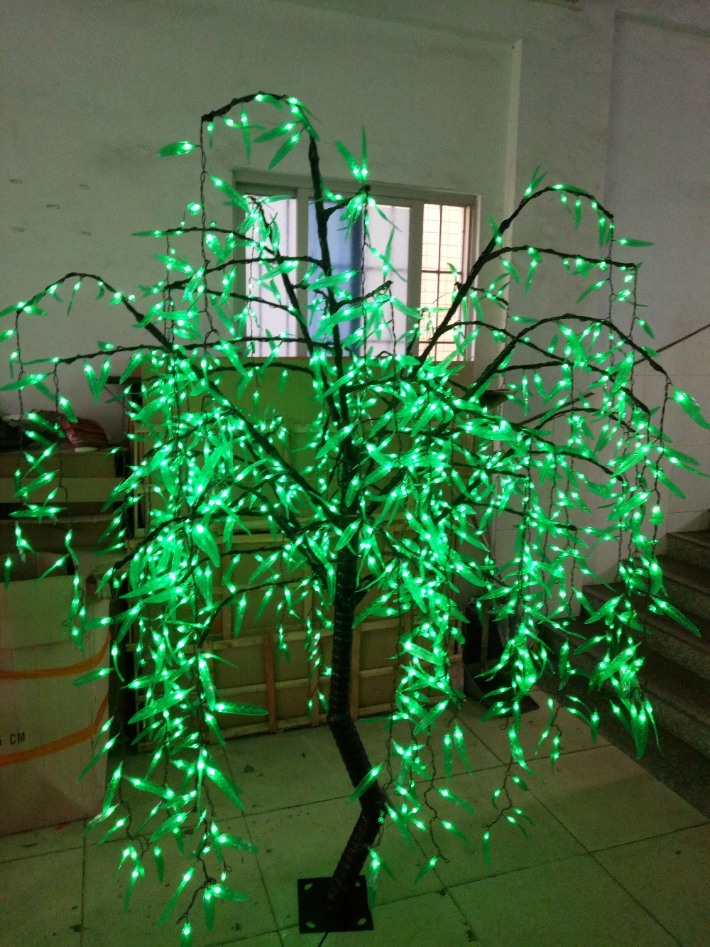 2M LED Artificial Willow Weeping Tree Light 1152pcs LEDs Green Color Indoor Outdoor Use Christmas/Holiday/Garden/PartY decor фигурка willow tree благословение высота 14 см