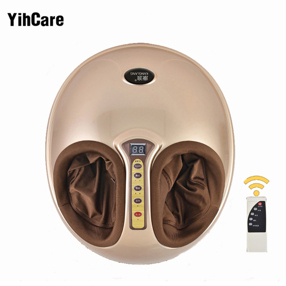 Электрический вибрирующий массажер для ног, забота о здоровье, массаж, инфракрасный нагрев, лечебный ролик, шиацу, разминающая машина давле