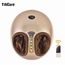 Electric Vibrating Foot Massager Health Care Massage Infrared Heating Therapy Roller Shiatsu Kneading Air Pressure Machine 220V 2017 pneumatic leg massager kneading foot massager relieving pain electrical air wave pressure physical therapy massage 220v